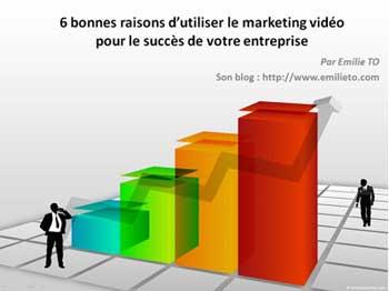 6 bonnes raisons d'utiliser le marketing vidéo pour le succès de votre entreprise